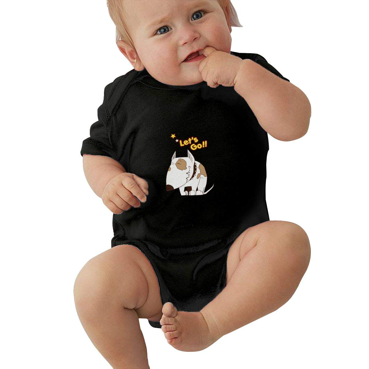 HuoFengDing Lively Dog Cotton Jersey Bodysuit Romper for Baby Boy