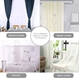 Magnetic Curtain Tiebacks, Curtain Tiebacks 2 PACK, The Most Convenient Drape Tie Backs decorative drapery holdback rope holder for Home Kitcher Office Window sheer Blackout Drapes, Silver Grey