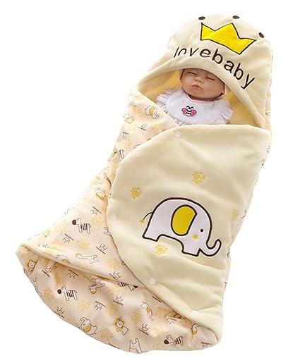 ML Saco de Dormir para bebés, recién Nacido Infantil, Lindo Animal Print Doble Engrosamiento