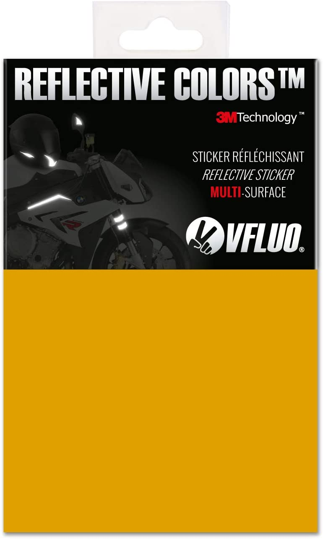 4 Sheets Bike Reflector Stickers Bright Reflective Stick for Car Bumper Helmet