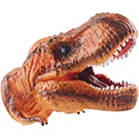 deAO Cabeza de Dinosaurio Marioneta de la Era Jurásica Hecha de Goma Suave Juguete de Simulación Realista (T-Rex)