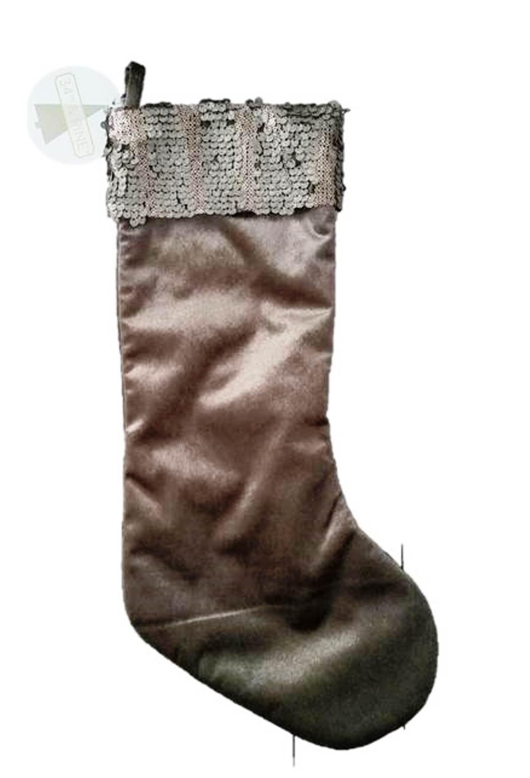 34th & Pine Christmans Stocking, Brown Velour