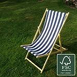 Deckchair (Blue and White stripe)