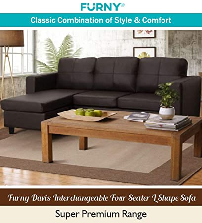 Magnificent Furny Davis 3 1 Ottoman L Shape Leatherette Sofa Brown Gmtry Best Dining Table And Chair Ideas Images Gmtryco