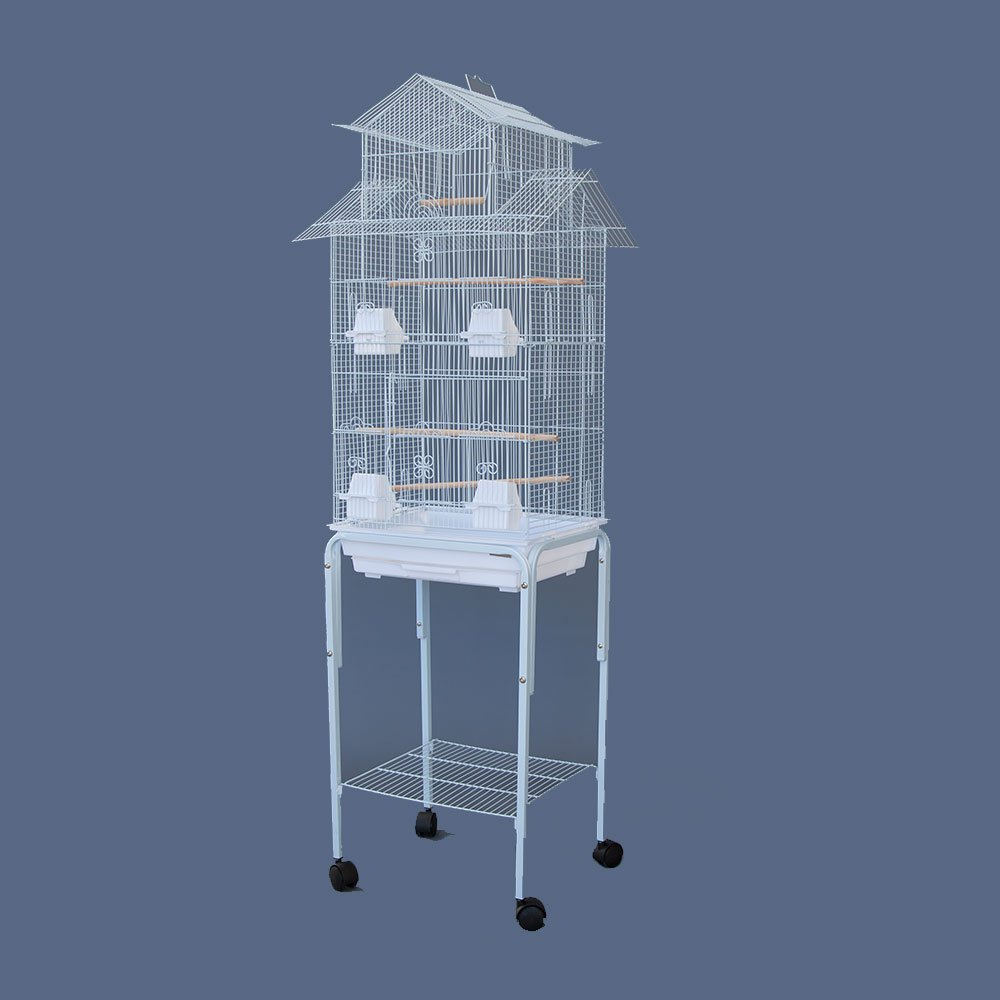 Canary Parakeet Cockatiel LoveBird Finch Bird Cages --18x14x64 With Stand Flyline