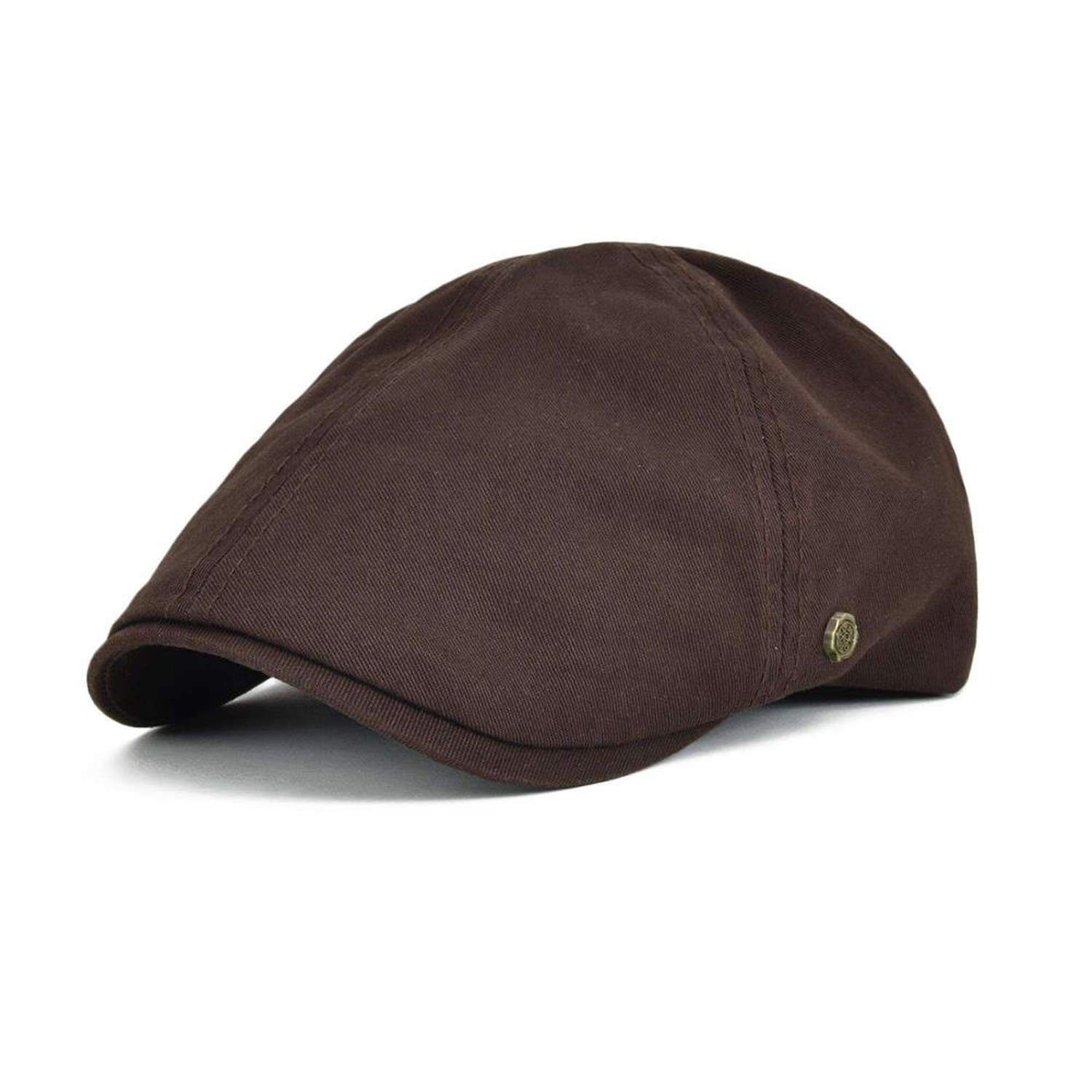 CHENTAI Summer Cotton Flat Cap Ivy Caps Men Women Burgundy Newsboy Driver Solid Color Casual Camouflage Beret