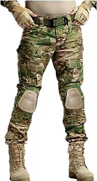 haoYK Pantalones tácticos Militares Paintball BDU Pantalones Airsoft Camo Pantalones Multi-Bolsillo con Rodilleras: Amazon.es: Deportes y aire libre