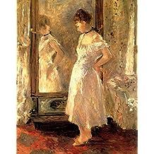 The Museum Outlet - 1876 Berthe Morisot Psyche, Detail PEINTURE Detail HUILE SUR TOILE - Canvas Print Online Buy (30 X 40 Inch)