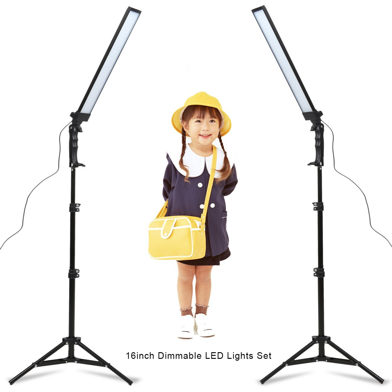 2 Pack 24W LED Dimmable Video Handheld Lights Continuous Lighting for Photography Studio Softbox Lighting Kit Adjustable Light Stand Kit with Tripod for Camera Photo Studio Shooting,YouTube,Live