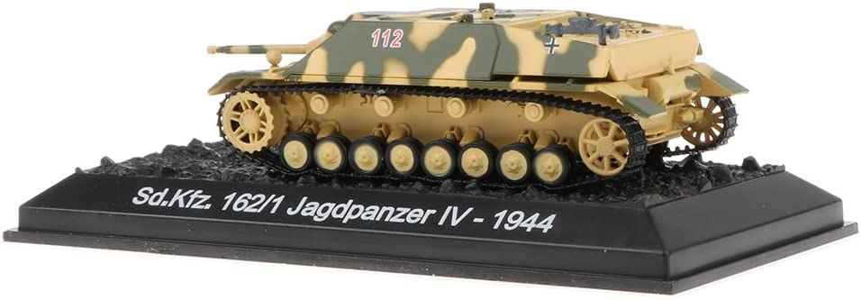 1 Jagdpanzer Iv-1944 Moul/é sous Pression Arm/ée R/éservoir Mod/èle Jouet MagiDeal 1//72 Mod/èle de V/éhicule Char de Combat Allemand SD.kfz.162