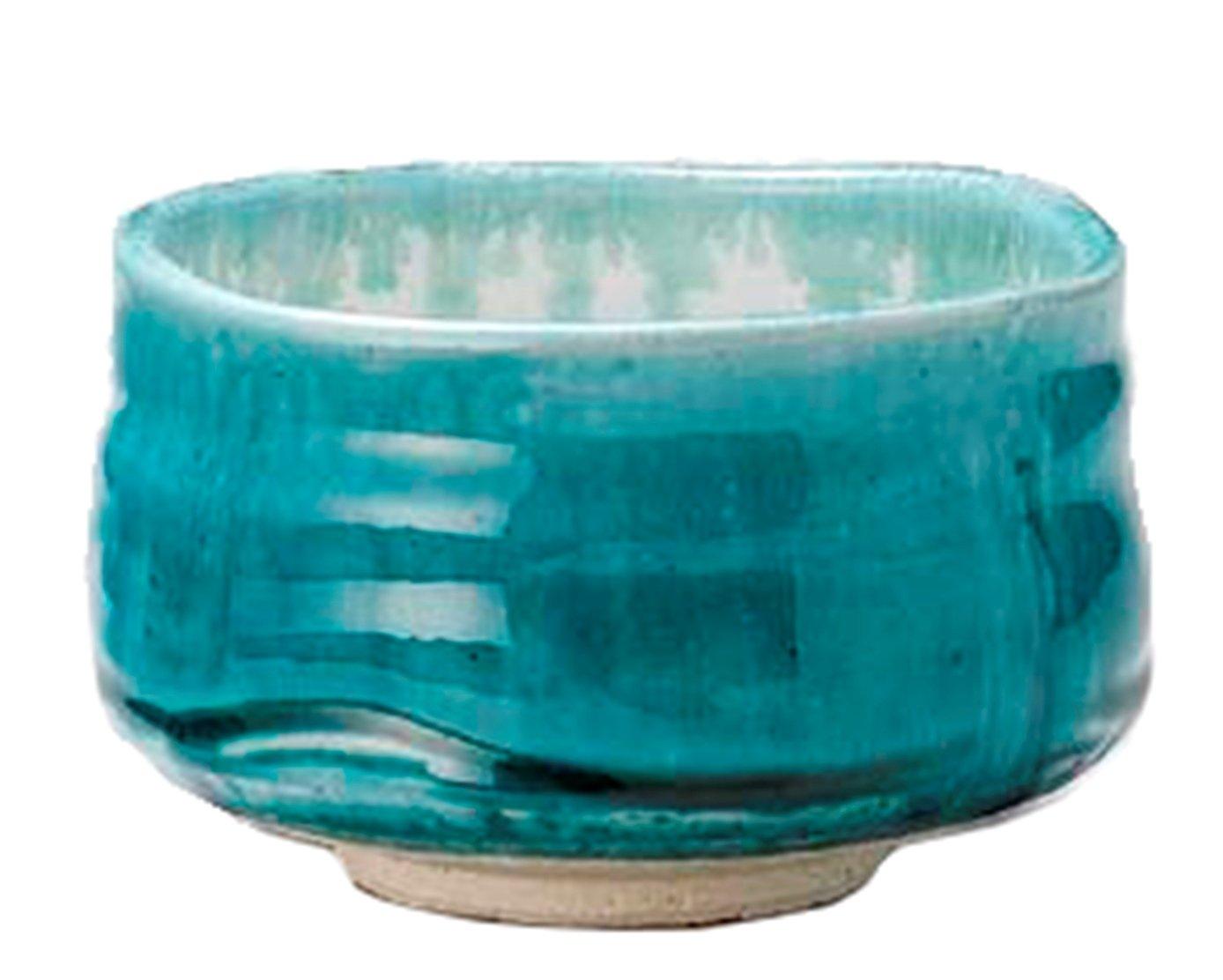 Mino-yaki Matcha Tea Bowl Turquoise Blue [Japan Import] by Mino Ware Minoyaki L-1774