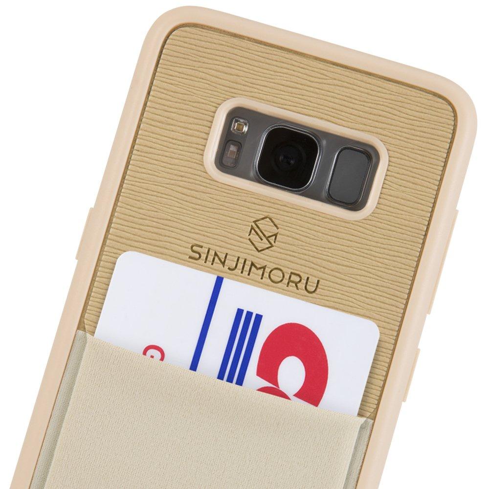 Sinjimoru Galaxy S8 Card Case, Étui s8 avec porte-cartes/Slim TPU Case avec bâton sur le porte-monnaie pour Samsung Galaxy S8/Galaxy S8 Wallet Case. Etui Sinji Pouch pour Samsung Galaxy S8, Marine. Sinjimoru Co. Ltd SPH_S8