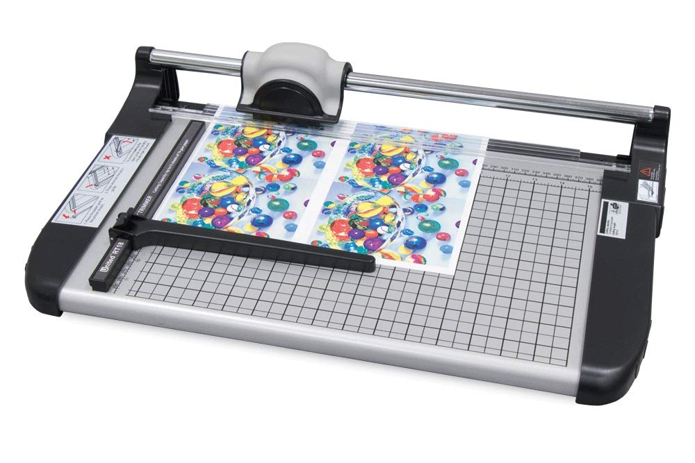 United RT18 18'' Rotary Paper Trimmer, 15 Sheet Capacity, Office and Craft, Grey by United