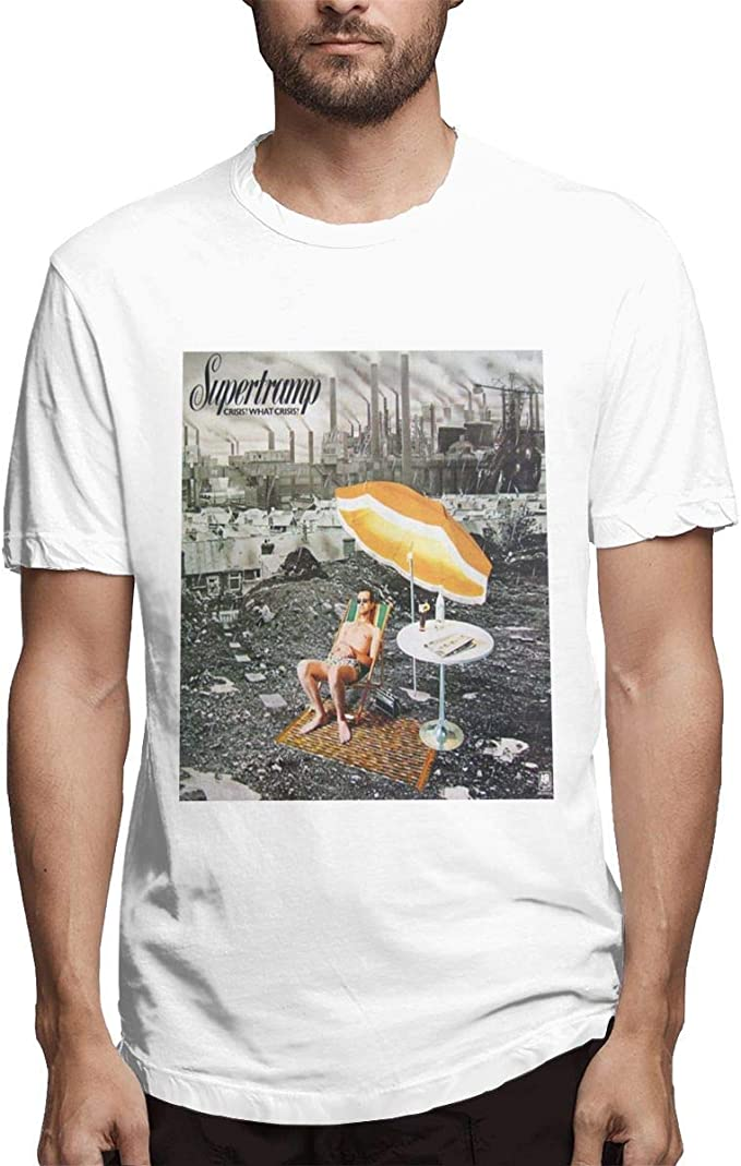 Camiseta Blanca de algodón Supertramp Crisis What Crisis Design ...
