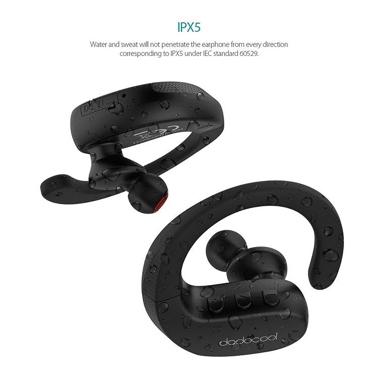 dodocool インイヤーヘッドフォン 真無線ステレオスポーツIPX5 防沫 HDマイク CVC 6.0 騒音抑制 多地点接続 複数デバイス接続 モノモード接続 6時間持続 スポーツコンパニオンiPhone/iPad/iPod/Samsung S8/ ほとんどのスマートフォンタブレットに適用 ブラック
