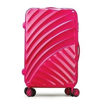 maletas viaje cabina 4 ruedas multidireccional ABS+PC equipaje rigida Partyprince 20100 rosa oscuro: Amazon.es: Equipaje