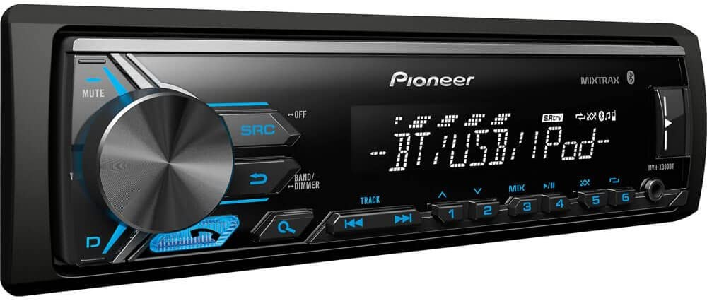 Pioneer MVH-X390BT Vehicle Digital Media Receiver with Pioneer ARC app compatibility,Built-in Bluetooth and USB Direct Control for iPod iPhone and Certain Android Phones, Black