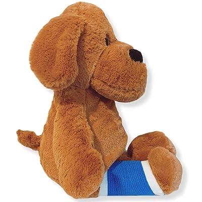 "Higgy Bears 15"" Broken Leg Dog Stuffed Animal- Blue Cast (Cast on Right Leg): Toys & Games"