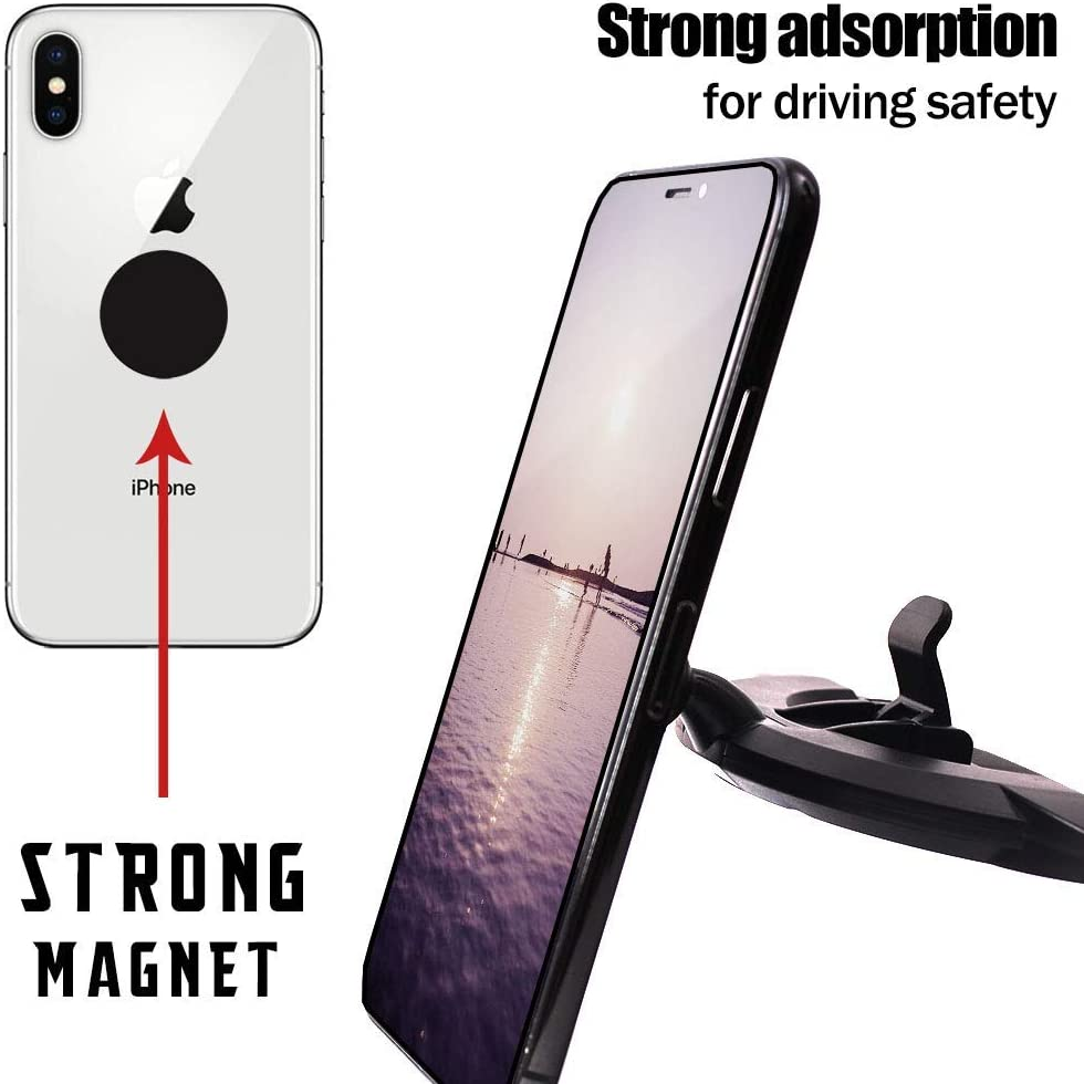 Universal 360 Rotation Phone Holder Compatible iPhone XsMax//Xs//X//8//8Plus//7Plus//Samsung Galaxy S9 and More Manords Magnetic CD Slot Car Phone Mount with Extra iPhone 7 Plus 8 Plus Phone Case