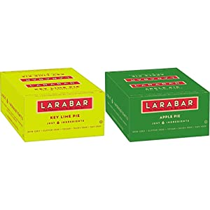 Larabar, Fruit & Nut Bar, Key Lime Pie, Gluten Free, Vegan (16 Bars) & Gluten Free Bar, Apple Pie, Vegan (16 Bars)