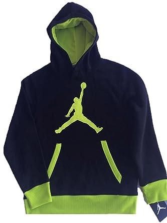 30f56b69d3 Nike Jungen Pullover Jordan Big Jumpman Logo Fleece Hoodie, Black ...