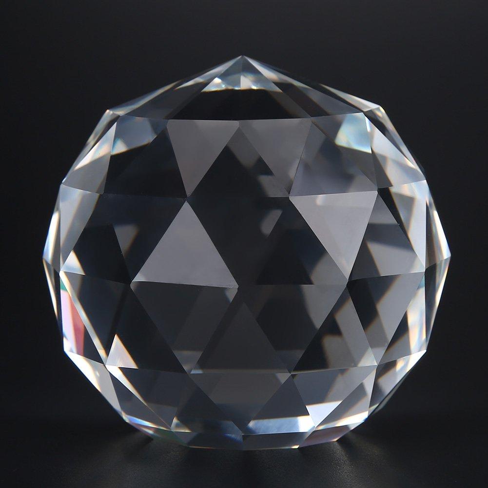 60MM//2.36in Manija de la puerta del grifo Bola de cristal de prismas claros esfera de cristal K9 Bola de mirada facetada Colectores solares Regalo de Navidad para amantes de los ni/ños