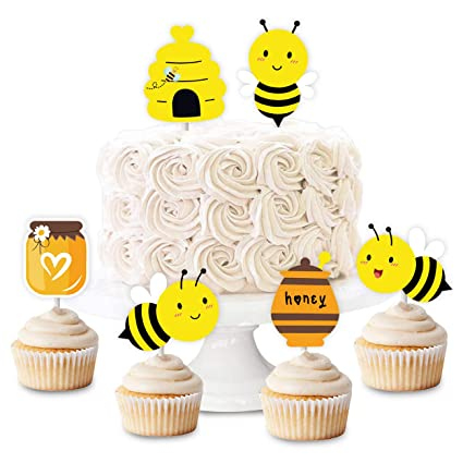 Remarkable Bumblebee Cupcake Toppers Honey Bee Cake Decorations For Bumblebee Personalised Birthday Cards Paralily Jamesorg