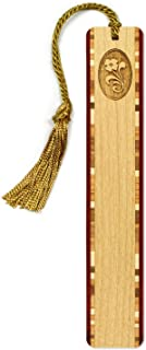 product image for Personalized Flower, Engraved Wooden Bookmark with Tassel - Search B0173PY12W to See Non Personalized Version