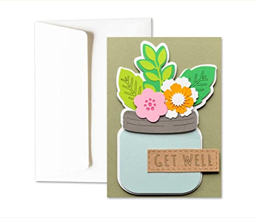Get Well Bon Rétablissement Fleurs Carte De Voeux Avec