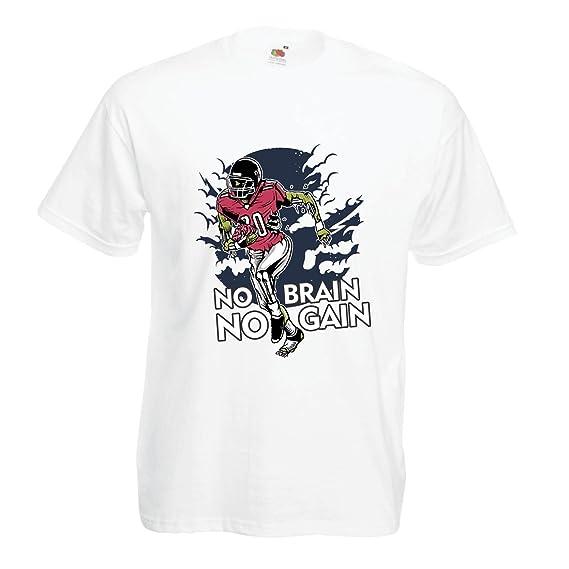 lepni.me Camisetas Hombre ¡Sin Cerebro No Hay Ganancia! Zombie Football Player - Frases Inspiradoras de Fútbol: Amazon.es: Ropa y accesorios
