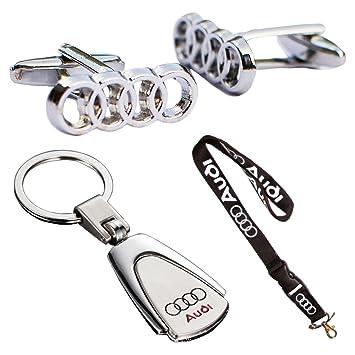 Juego de regalo triple de Audi, llavero, llavero con cordón ...