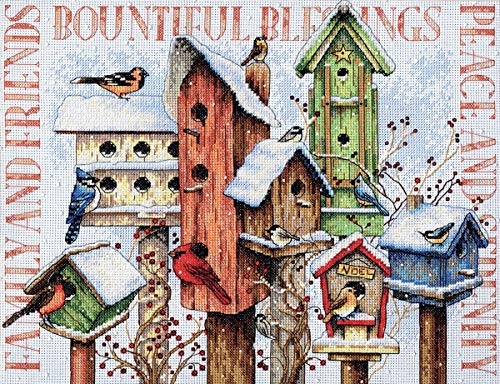Dimensions Counted Cross Stitch, Winter Housing