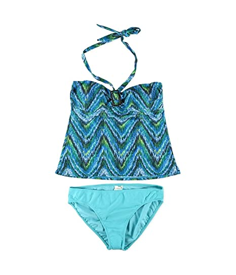 3159f6280d946 Amazon.com  Island Escape Womens Multi Print Shaper Pant 2 Piece ...