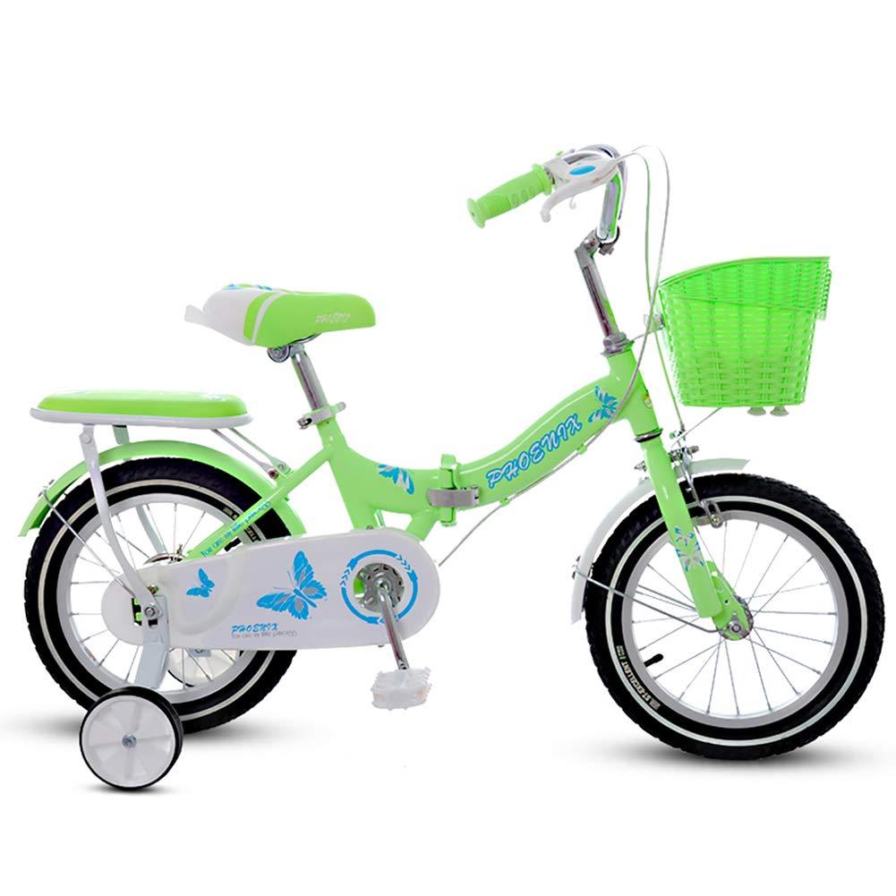 CHS@ 折り畳み式子供用自転車2-4-6歳14/16/18インチ子供用自転車少年用自転車少年の子供用ベビーカー子供用マウンテンバイクトレーニングホイール 子ども用自転車 (サイズ さいず : 18