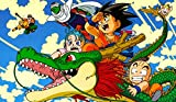 Masters of trade Dragonball Z Collage TCG playmat, gamemat 24'' wide 14'' tall for trading card game smooth cloth surface rubber base