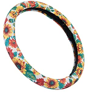 Mayco Bell Sunflower Steering Wheel Cover 2019 New for Women