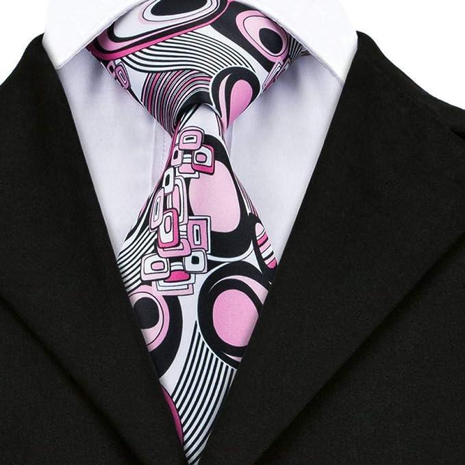 AK Hombres S Tie Dn-1219 Nuevos Corbatas de Boda Rosadas Novedad ...