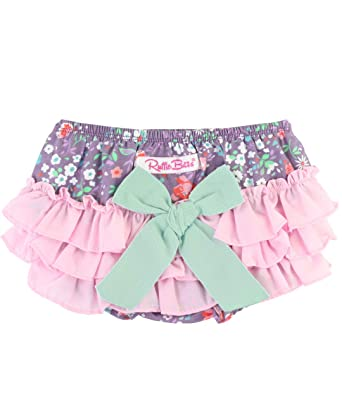 336454f09ed5 Amazon.com: RuffleButts Baby/Toddler Girls Ruffled Woven Bloomer ...