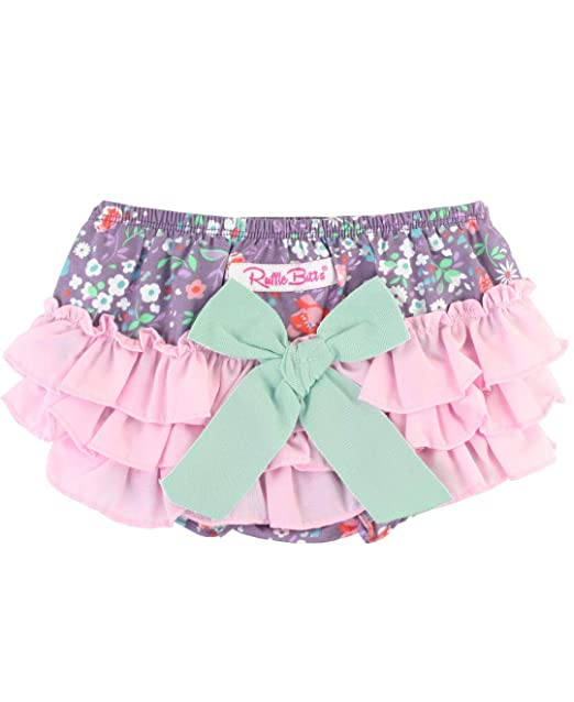 8aa153b08b Amazon.com: RuffleButts Baby/Toddler Girls Ruffled Woven Bloomer ...