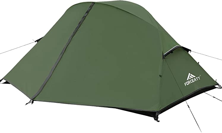 Forceatt Tent for Camping,2 and 3 Person Lightweight Backpacking Tent,Hiking Tent for 4 Seasons | Double Doors,PU3000-5000 Waterproof,Windproof and Easy to Set Up Camping Tent | 3-4 Color and 2 Size.