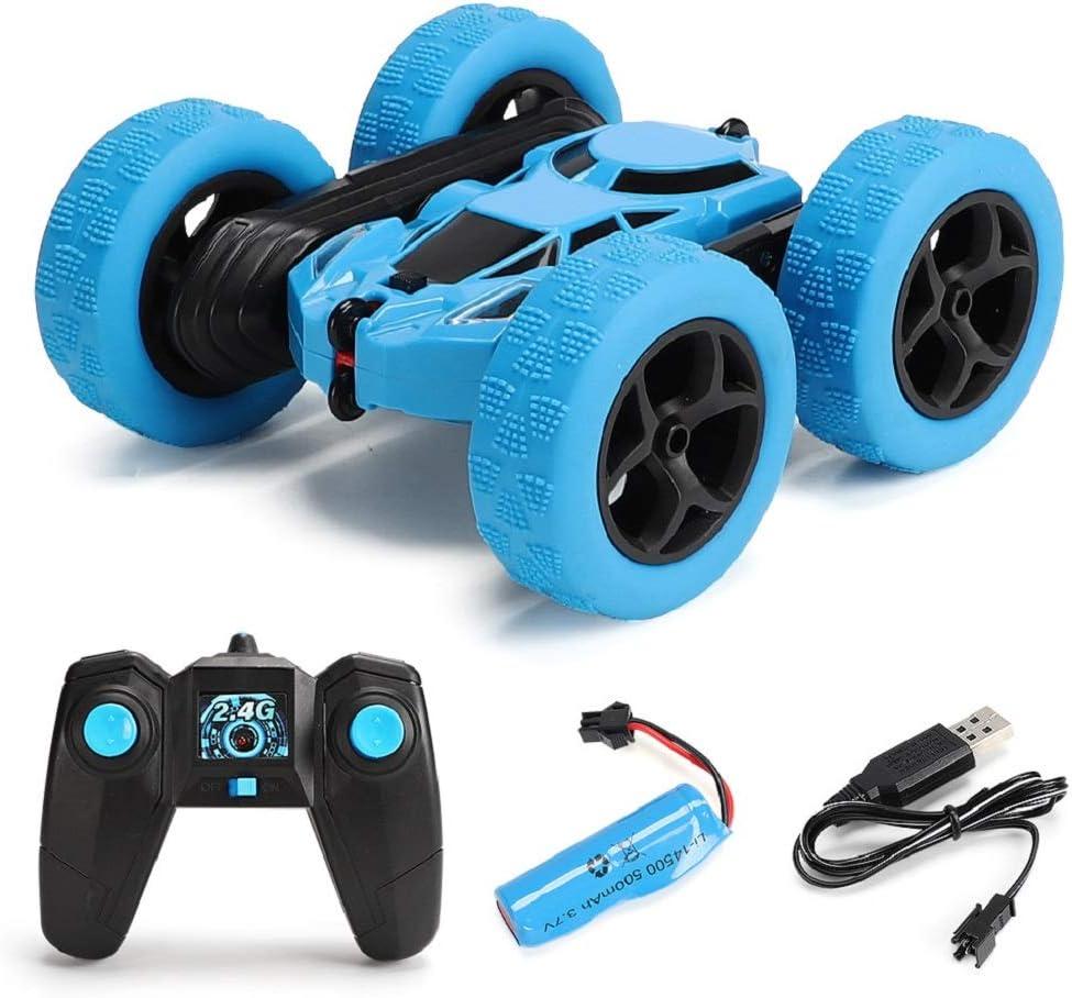 perfeclan Vehículos De Control Remoto Electrónica RC Rock Racing Modelo Stunt Cars Juguetes - Azul