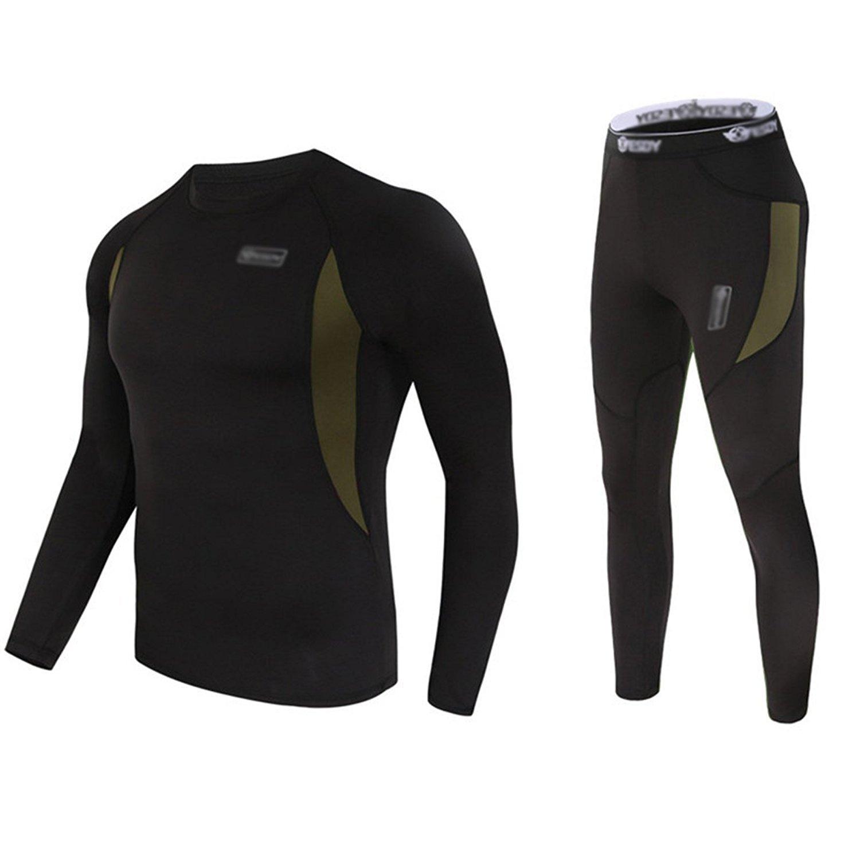 Vakker Thermal Underware Set Top and Bottom, Long Johns Sweat Fleece, Quick Drying, Soft Warm