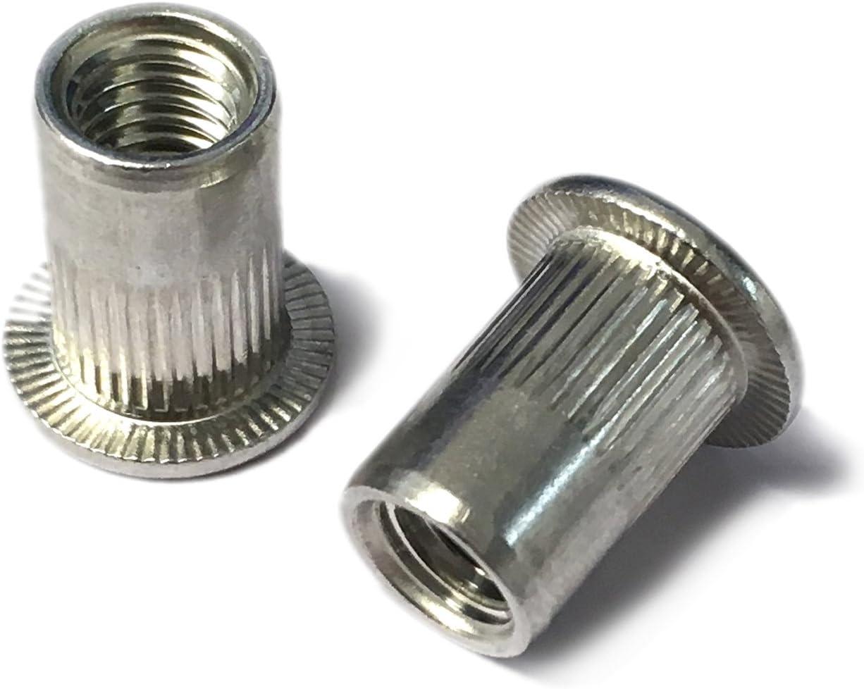 Aluminium Threaded Rivetnut Insert Nutsert Rivet Nut M4,M5,M6,M8,M10 Available Metric Rivets