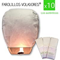 FAROLILLOS VOLADORES Blancos. Pack 10 Unidades.