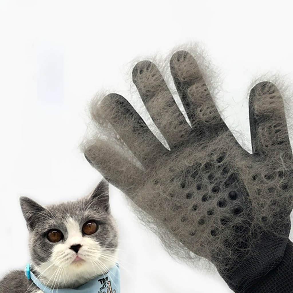 NICOLAS Cat Gloves Remove Hairy Dog Hair Comb Brush Artifact Massage Bath Float Pet Supplies (Color : Black) by NICOLAS