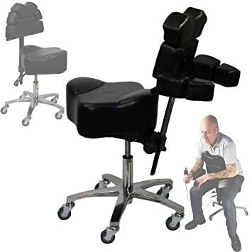 Brand New InkBed Patented Adjustable Ergonomic Chair Stool Chest Back Rest Support Tattoo Studio Equipment (  sc 1 st  Amazon.com : stool ergonomic - islam-shia.org