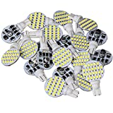 #9: 20 x Super Bright 6000k Pure White 4.8w T10 921 194 Boat, Iandscaping, RV, Trailer & Camper Interior Wedge 24-SMD LED Light Bulb 12v (Pack of 20)