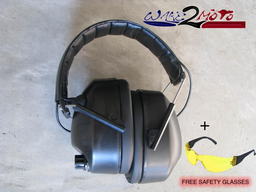 Noise Canceling Electronic Ear Muffs Protection Shoot Ears And Speakers Protector Hunting Gun Sport Tactical Safety Blocking Firing Range Eye Sports