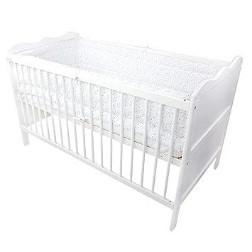 TupTam Baby Nestchen f/ür Babybett Gemustert f/ür Babybett 140x70 Gr/ö/ße: 420x30cm Farbe: Baby Tiere Grau//Blau