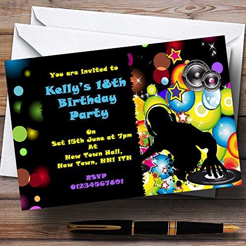 hasta 60% de descuento 90 Invitations Colorido Disco DJ personalizado invitaciones de fiesta fiesta fiesta  apresurado a ver